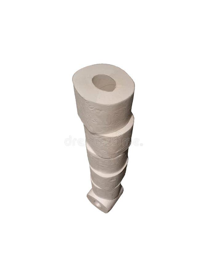 Rolo do lenço de papel do toalete Rolo do wc barato do papel de toalete que limpa finalidades higiênicas do produto de papel imagem de stock royalty free