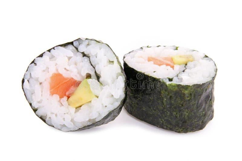 Rolo do maki do sushi fotografia de stock