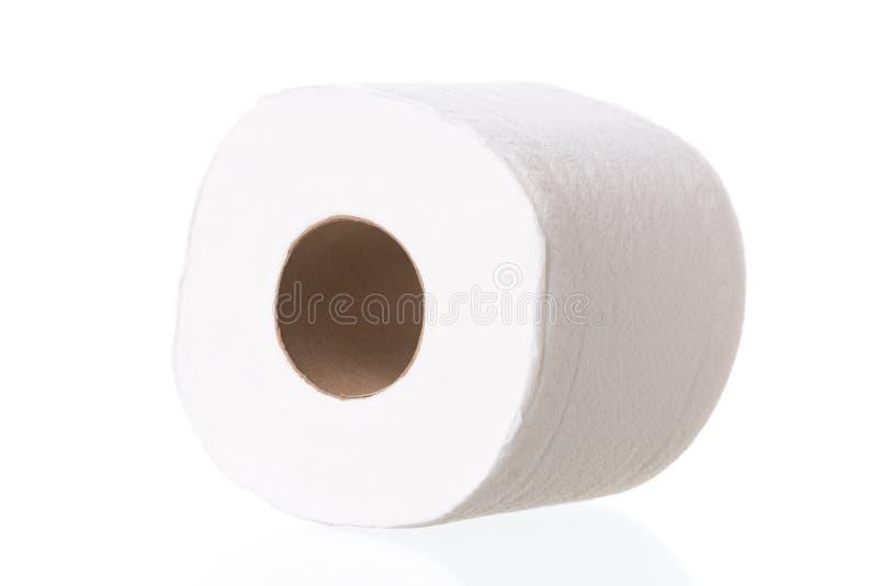 Rolo do papel higiénico no fundo branco imagem de stock royalty free
