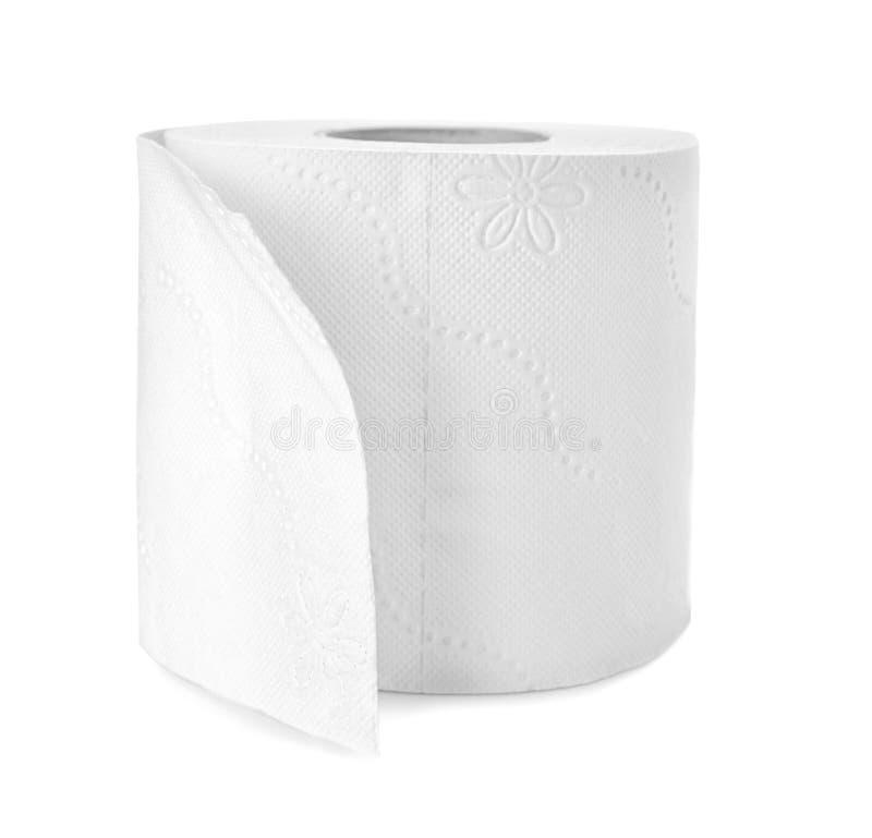 Rolo do papel higiénico no fundo branco foto de stock royalty free
