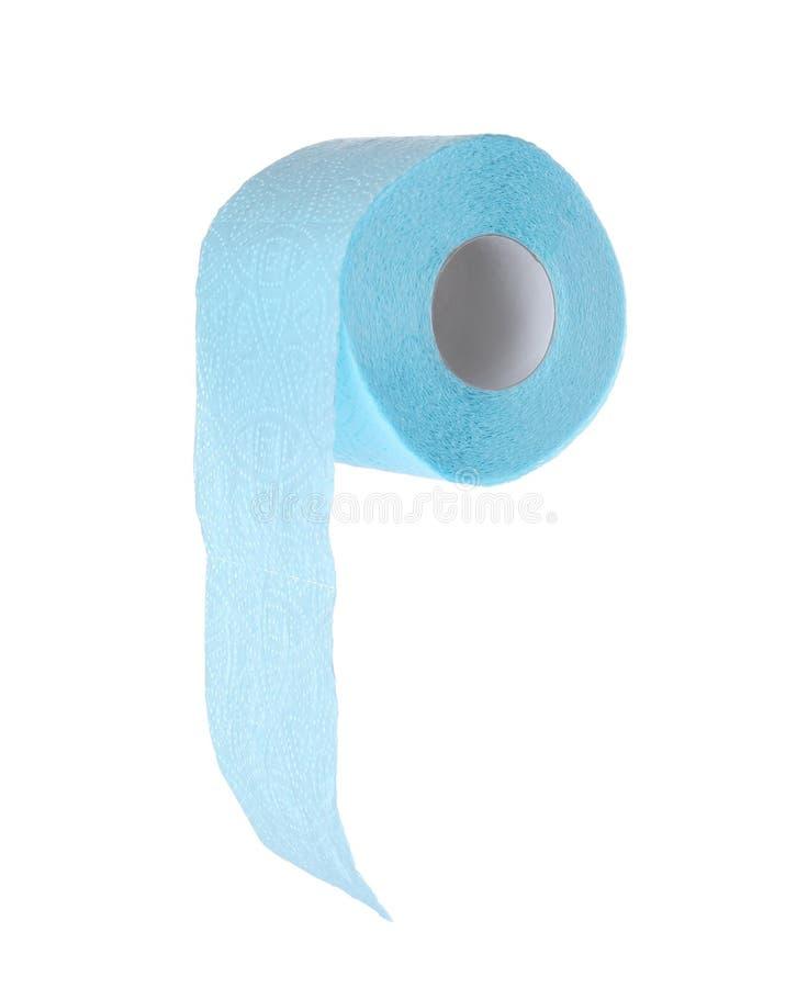 Rolo do papel higiénico no fundo branco imagens de stock royalty free