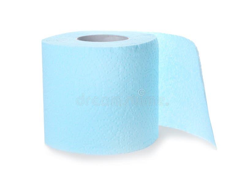Rolo do papel higiénico no fundo branco fotografia de stock royalty free