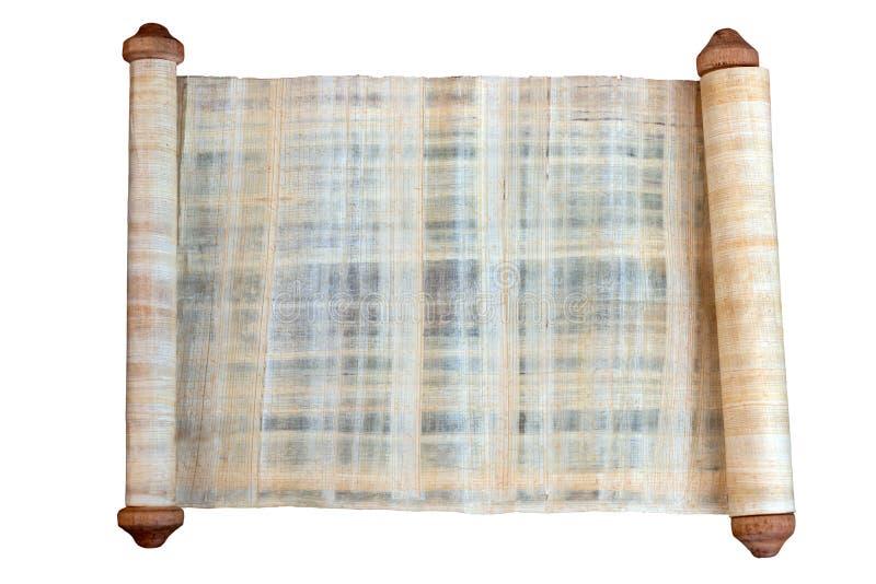 Rolo do papiro de cores marrons, brancas e cinzentas de uma luz - fotografia de stock