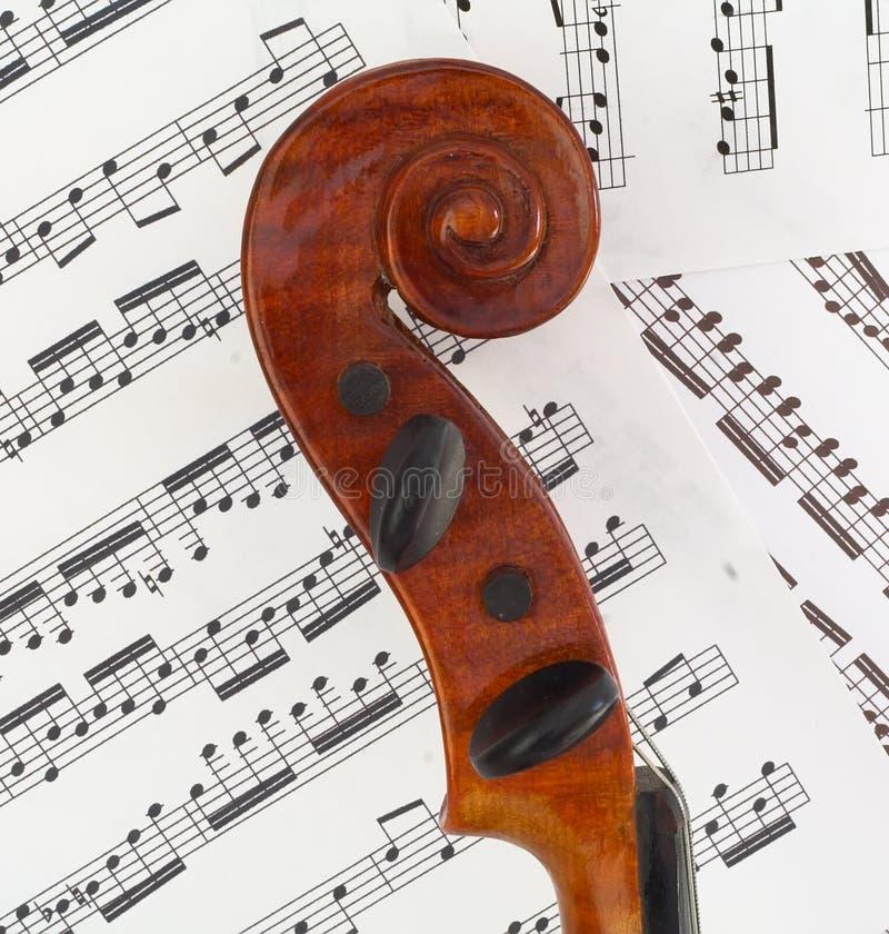 Rolo do perfil do violino fotografia de stock royalty free