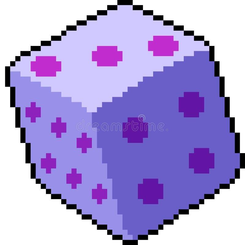 Rolo dos dados da arte do pixel do vetor ilustração do vetor