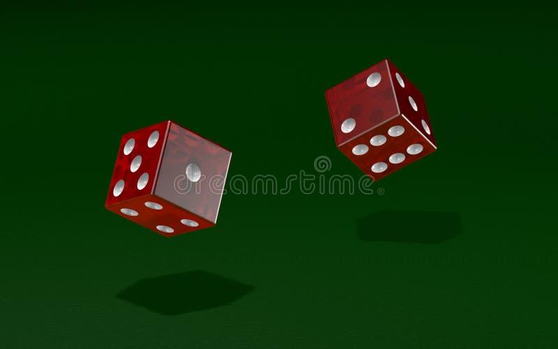 Rolo dos dados em um jogo ilustração stock