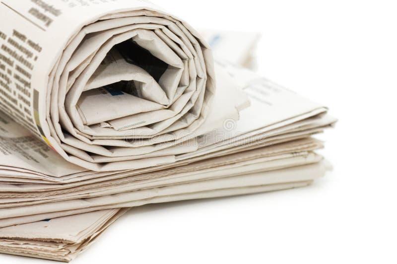 Rolo dos jornais foto de stock