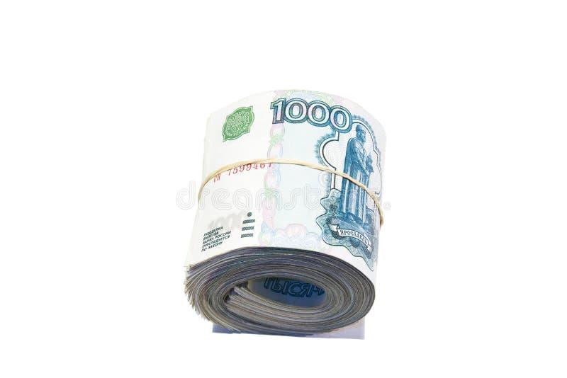 Rolo dos rublos imagem de stock royalty free