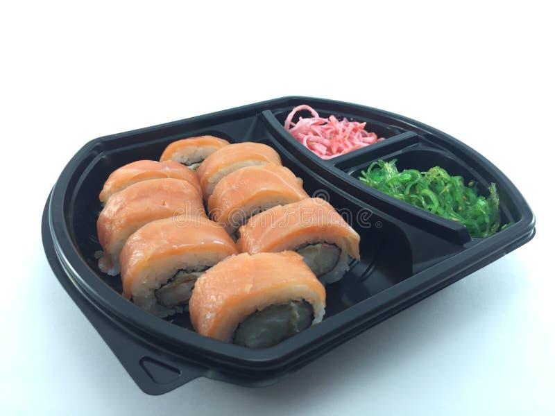 Rolo dos salmões do sushi imagens de stock royalty free
