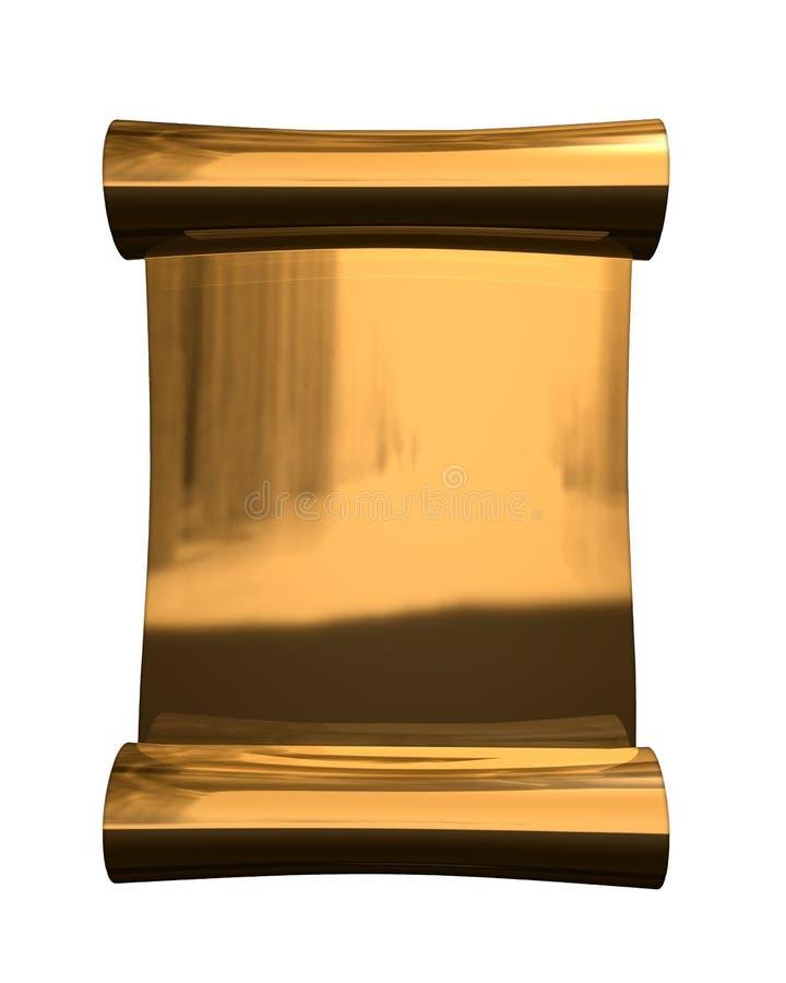 Rolo dourado ilustração royalty free