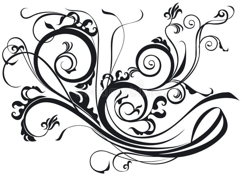 Rolo ornamentado ilustração do vetor