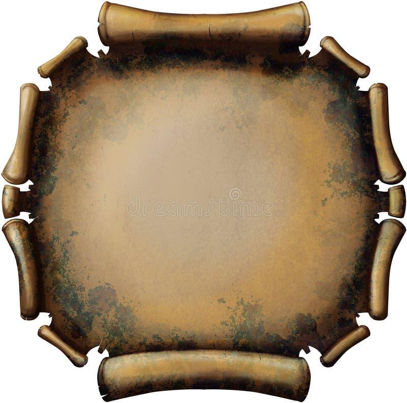 Rolo oxidado redondo ilustração royalty free