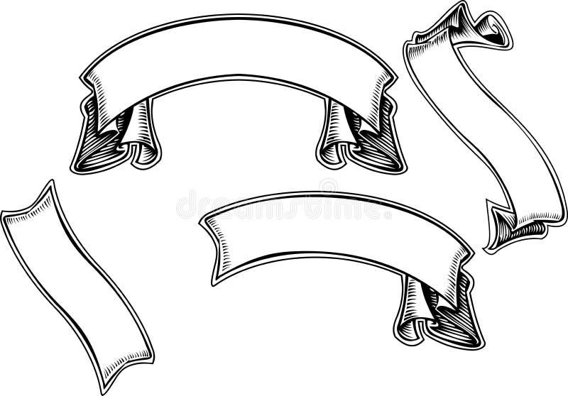 Rolo quatro antigo velho preto ilustração stock
