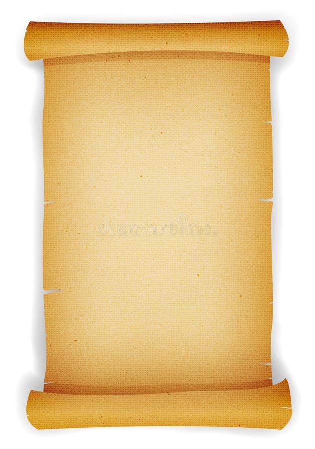 Rolo Textured velho do pergaminho ilustração do vetor