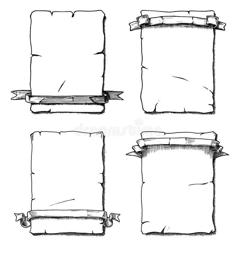 Rolo velho ilustração stock