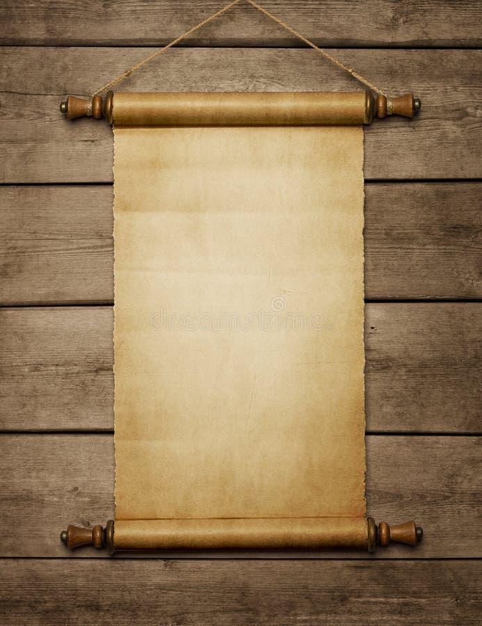 Rolo velho do papel vazio fotos de stock royalty free