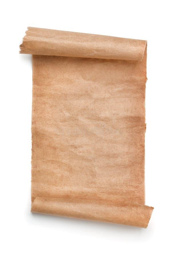 Rolo velho do papel vazio fotografia de stock royalty free