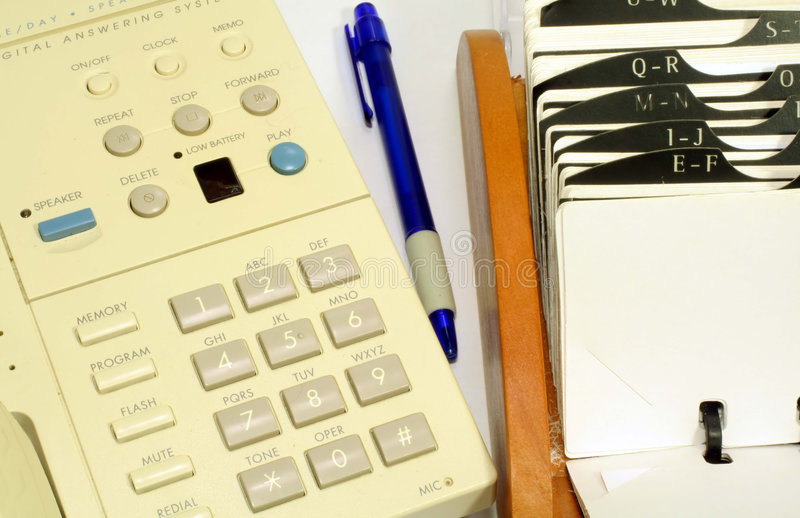 rolodex τηλέφωνο στοκ εικόνα