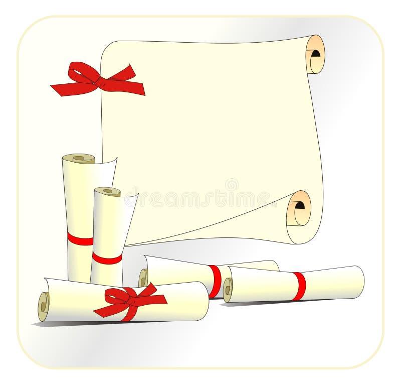 Rolos ilustração stock