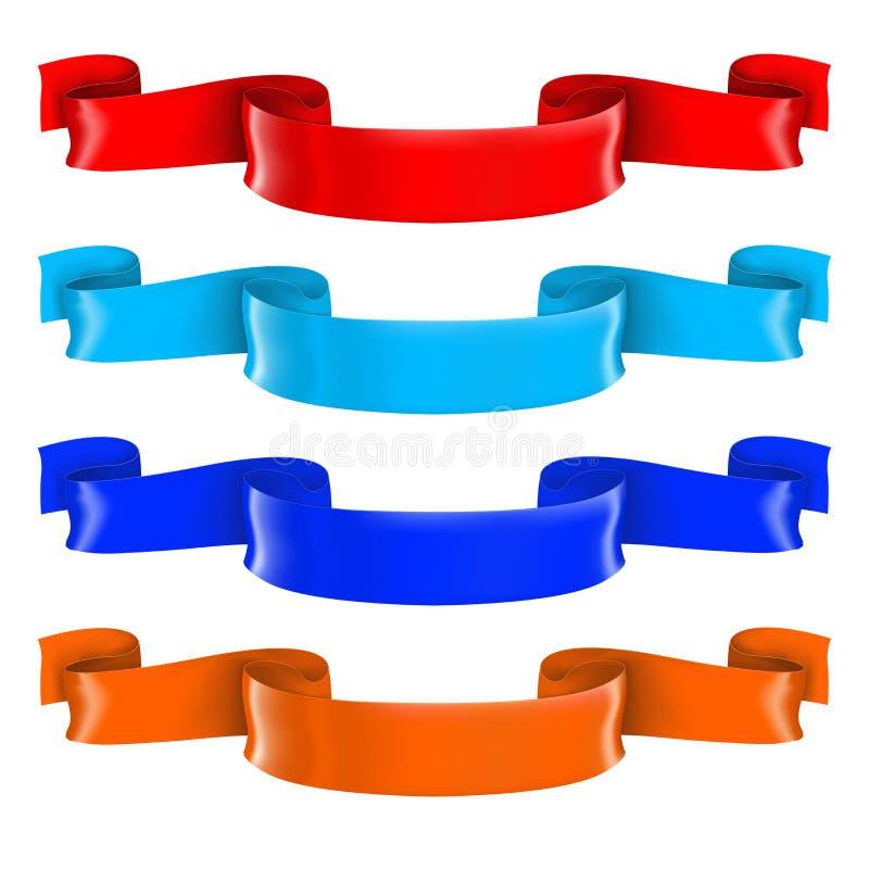 Rolos brilhantes coloridos da fita 3d ilustração stock