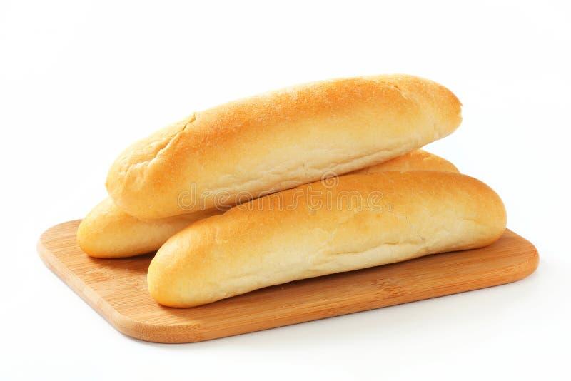 Rolos de pão branco fotos de stock royalty free