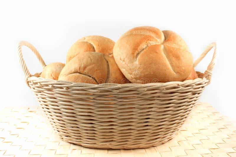 Rolos de pão isolados imagem de stock royalty free