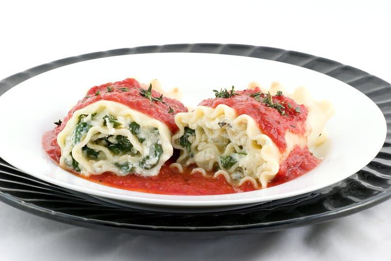Rolos do Lasagna? porque não foto de stock royalty free