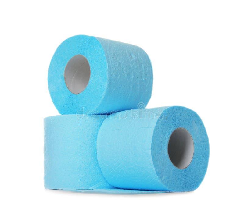 Rolos do papel higiênico da cor fotografia de stock