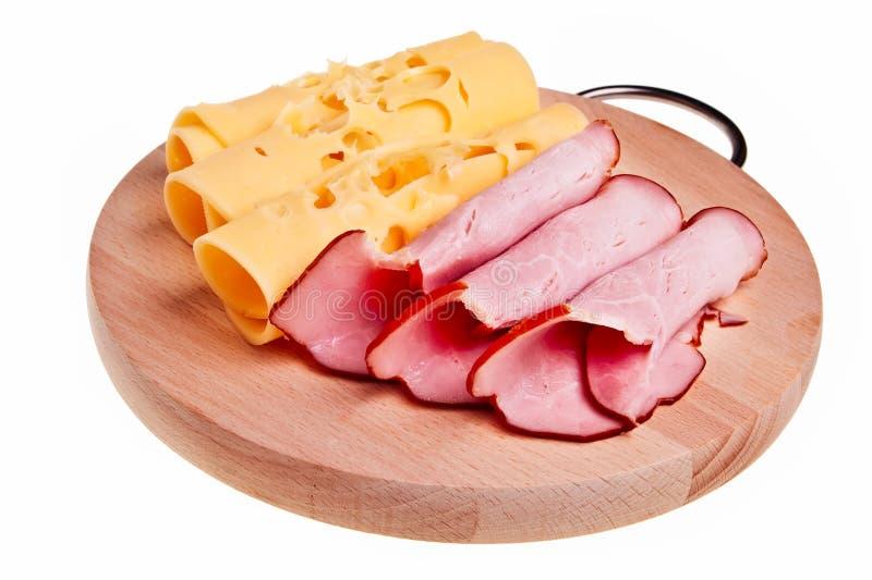 Rolos do presunto e do queijo. fotos de stock royalty free