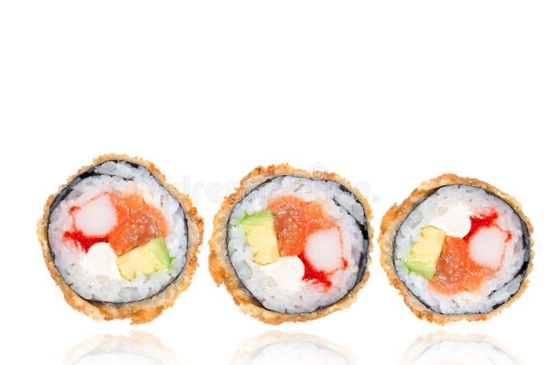 Rolos fritados do japonês fotografia de stock