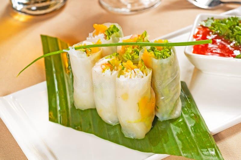 Rolos vietnamianos do verão do estilo imagens de stock royalty free