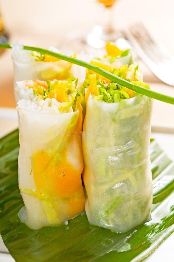 Rolos vietnamianos do verão do estilo fotografia de stock royalty free
