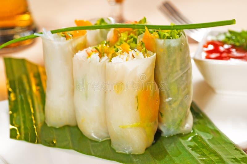 Rolos vietnamianos do verão do estilo imagem de stock royalty free