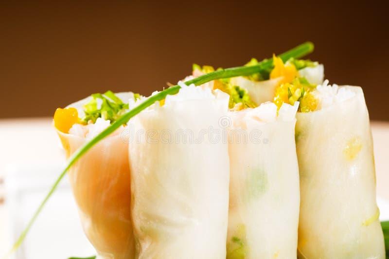 Rolos vietnamianos do verão do estilo foto de stock royalty free