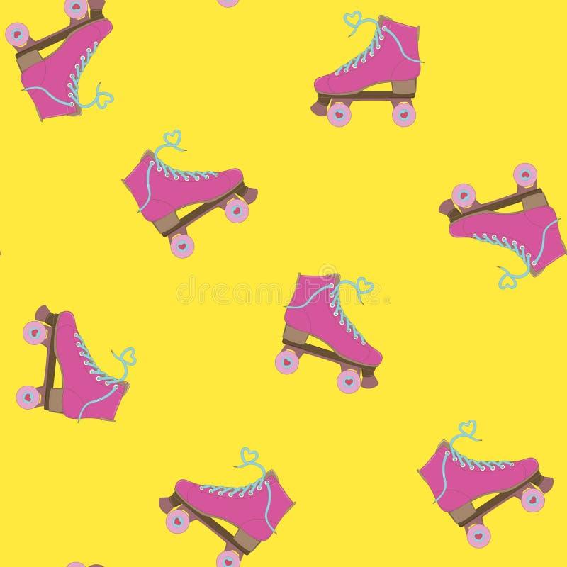 rolowniki również zwrócić corel ilustracji wektora Wizerunek rolki Rolkowe łyżwy młodzi dorośli Tło z rolownikami royalty ilustracja