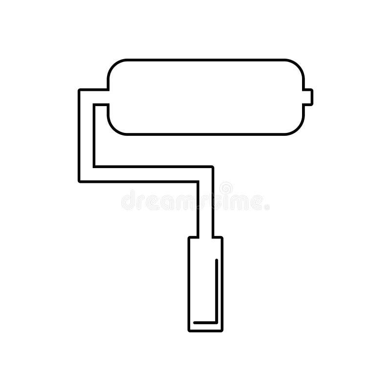 Rolpictogram Element van Constraction-hulpmiddelen voor mobiel concept en webtoepassingenpictogram Overzicht, dun lijnpictogram v royalty-vrije illustratie