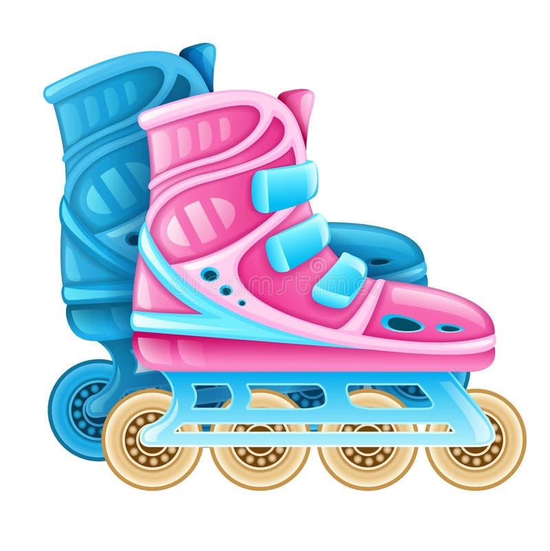 Rolschaatsen voor rollende sport stock illustratie