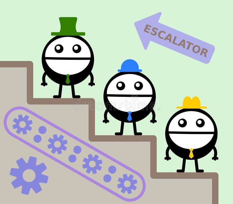 Roltrap vector illustratie