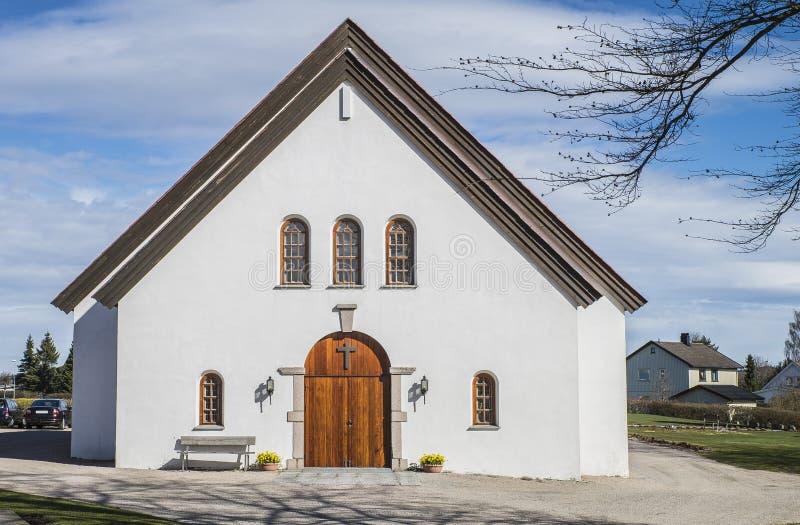 Rolvsøy kościół (2) (kaplica) zdjęcia stock