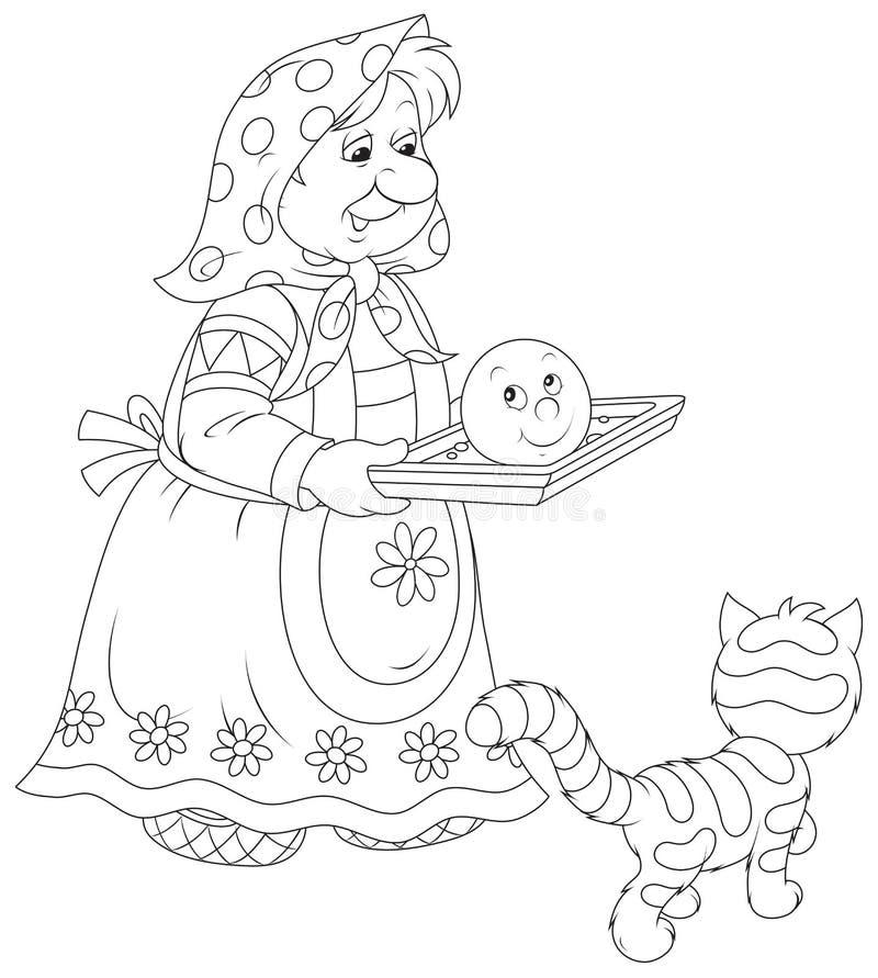 Roly-Poli cozido avó ilustração do vetor