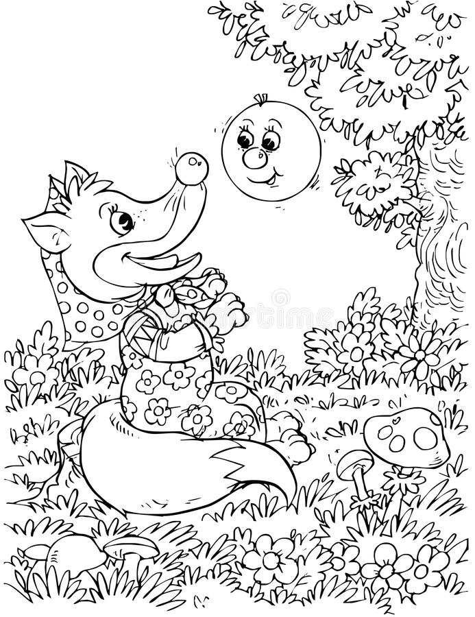 Download Roly-Poly and Fox stock illustration. Image of funny - 14555807