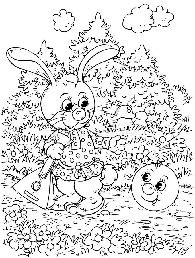 Download Roly-Poly and Hare stock illustration. Image of illustration - 14555813