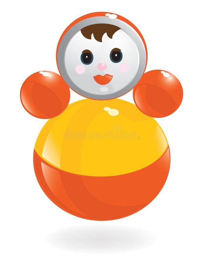 Roly-Poly poupée. Vecteur-Illustration illustration libre de droits