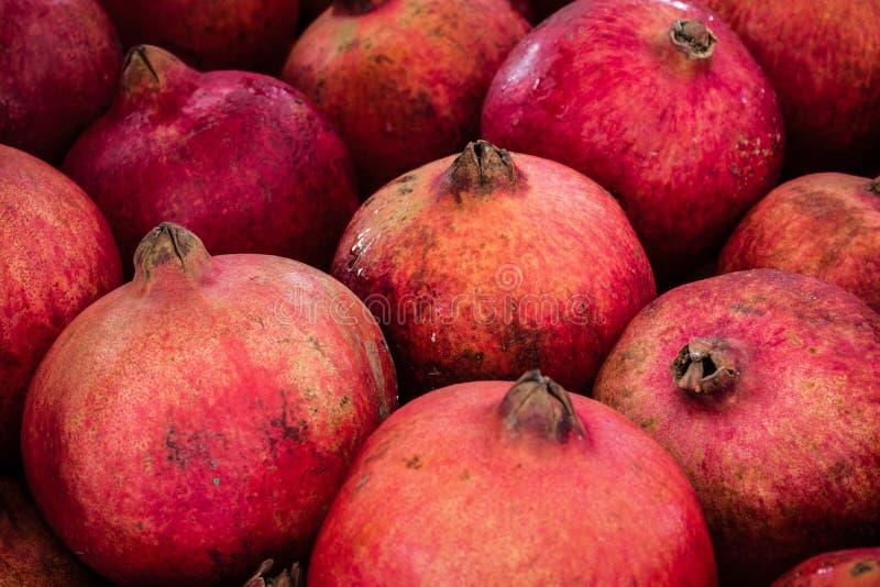 Romã, fruto do xarope de groselha - close up das romã imagens de stock