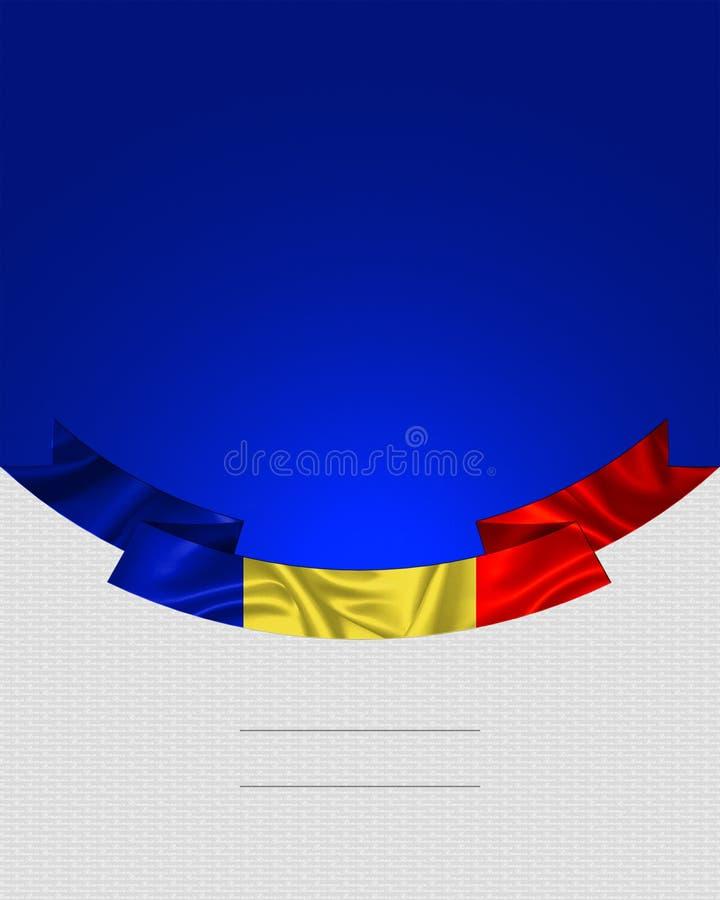 Romênia, bandeira romena ilustração royalty free