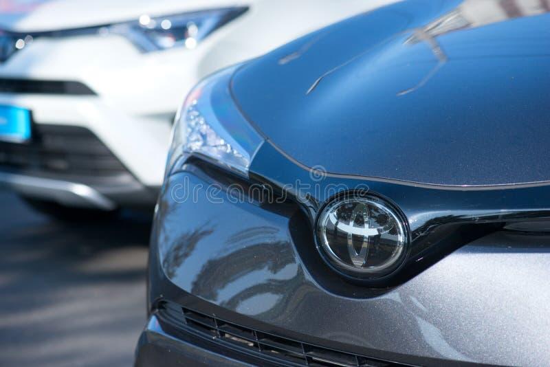 ROMÊNIA 2 DE SETEMBRO DE 2017: Logotipo de Toyota o 2 de setembro de 2017 em ROMÊNIA imagens de stock royalty free