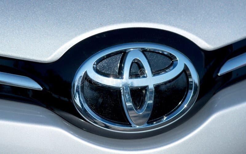 ROMÊNIA 2 DE SETEMBRO DE 2017: Logotipo de Toyota o 2 de setembro de 2017 em ROMÊNIA imagem de stock royalty free