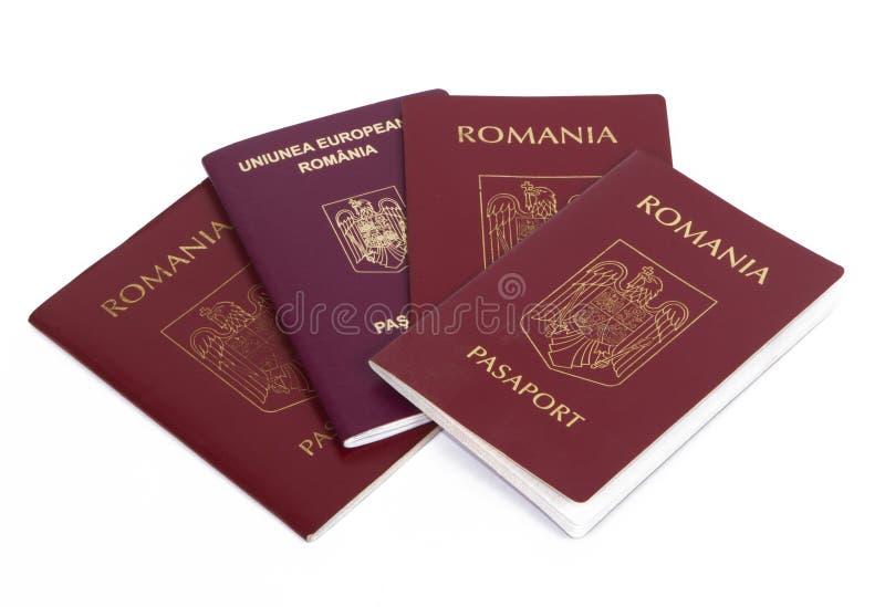 Romênia: passaporte romeno imagem de stock royalty free