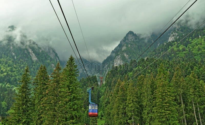 Romênia, teleférico de Busteni fotografia de stock