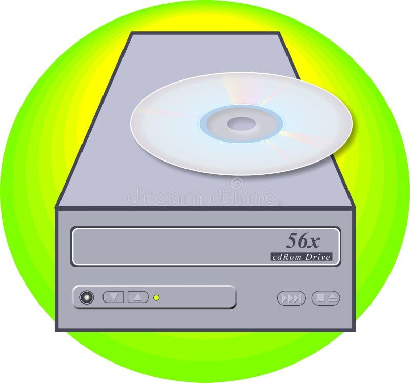 ROM ρυθμιστή Cd διανυσματική απεικόνιση